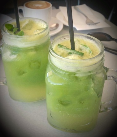 The Hulk - freshly squeezed apple, ginger, lemon, celery and spinach juice