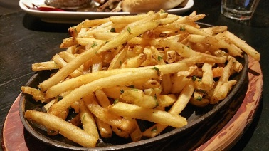 Fries rendered in duck fat