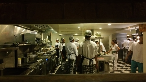 Big kitchen with plenty of chefs