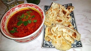 Penang chicken curry and roti